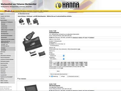 Yohanna promotional items, printing of car accessories, sales promotion in east frisia